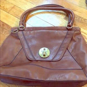Elliott Lucca Brown Leather Hobo Bag
